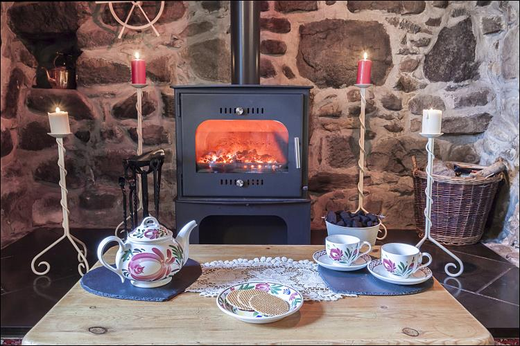 Winter Breaks to unwind in front of the multi-fuel stove at Betws Bach Farmhouse