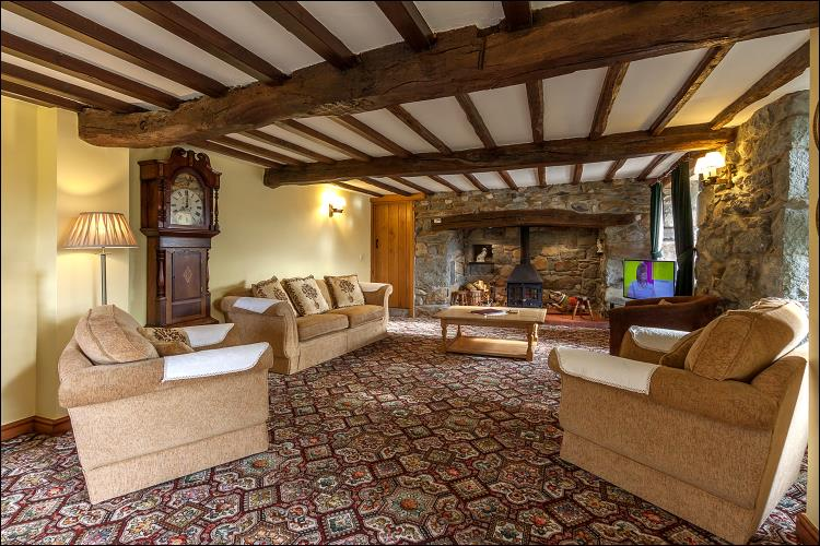 Lounge at Hendre Farmhouse