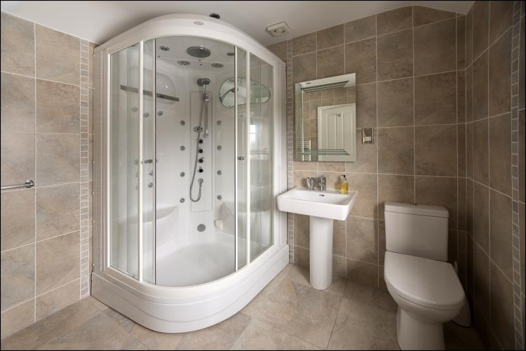 En-suite Shower at Rhos Ddu Cottage