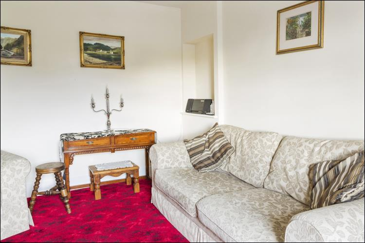 Cosy lounge at Rhos Ddu Cottage - the ideal place for a couple
