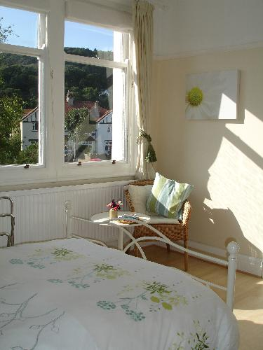 The double guestroom with adjoining single with views to The Great Orme