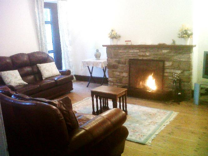 Lounge at meadowview with open fire