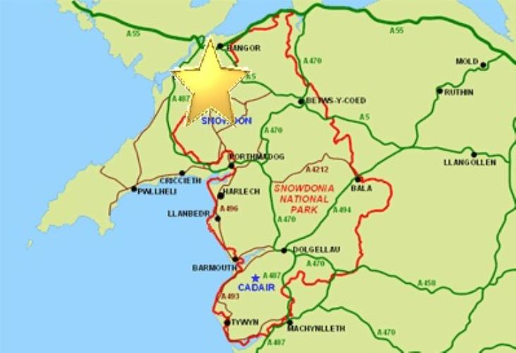 Snowdon Accommodation Map