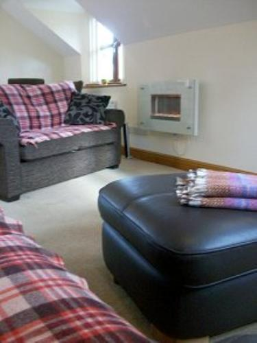 Lounge at Rock Mill Holiday Apartment Llandysul, West Wales