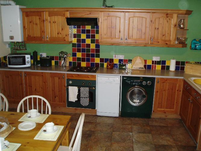 Glyncoch Isaf Holiday Cottage Kitchen - West Wales