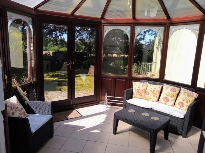 Enjoy views of the garden from the conservatory