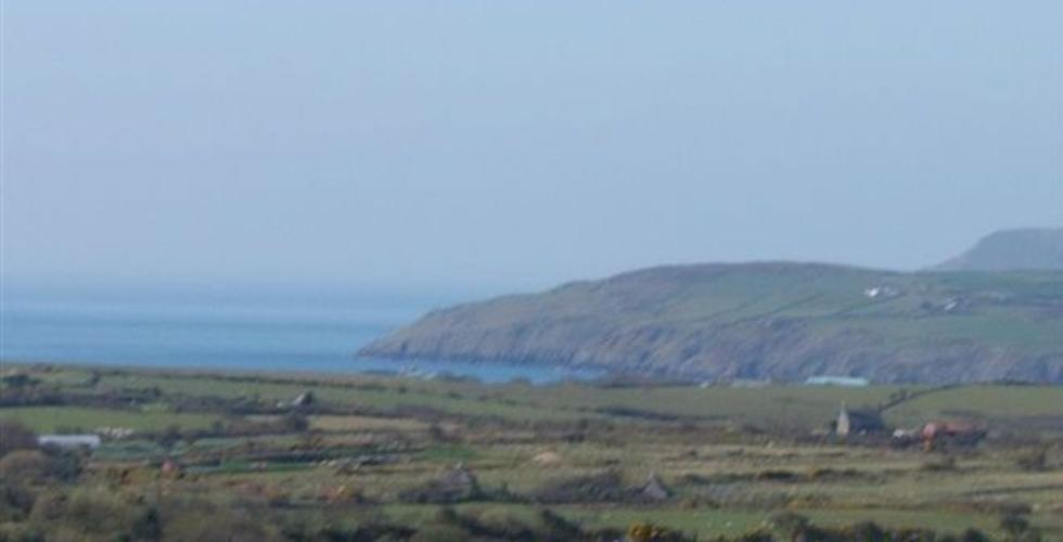 View from caravan of Aberdaron Bay