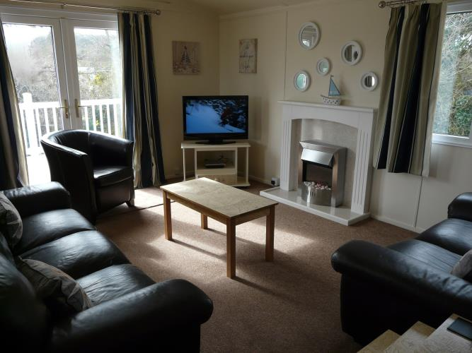 Lounge - Beach Lodge - Anglesey Coastal Cottage - Moelfre