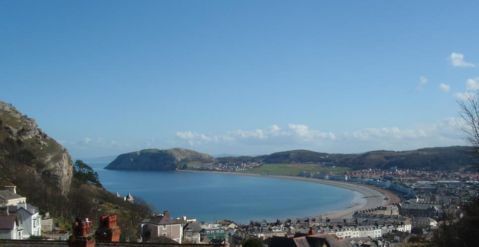 View over Llandudno Bay from Ty Haf