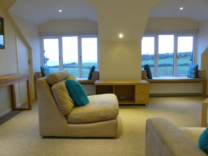 Living area - Seashells Cottage Moelfre - Anglesey Coastal Holiday Cottage - Lligwy Beach