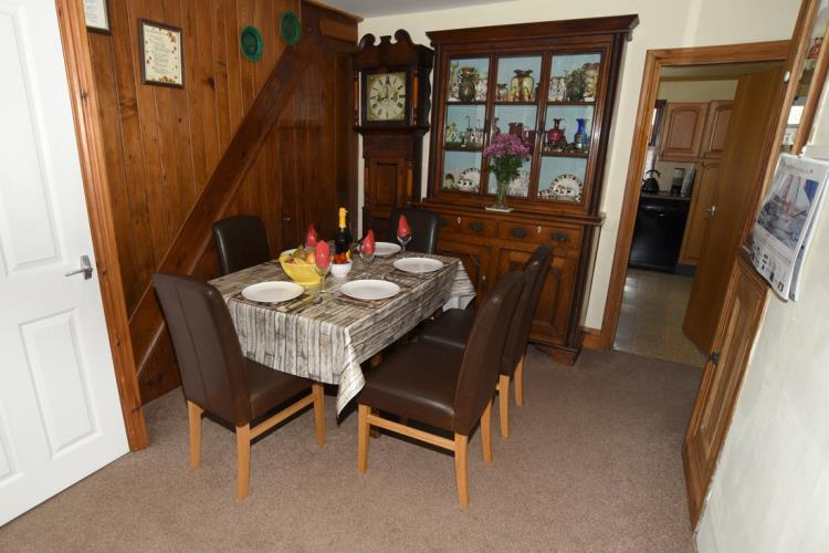 Dining room with additional TV/DVD Player