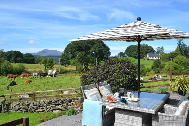 views from your Patio - Saibod Holiday Cottage, Betws-y-Coed, Snowdonia