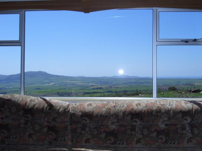 Spectacular views of countryside and coast from lounge