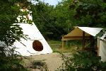 South West Wales Yurt and Tipi Camping Trellyn Woodland Campsite