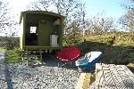 Shepherd's Hut - Glamping in Snowdonia  Campsites Betws-y-Coed Snowdonia